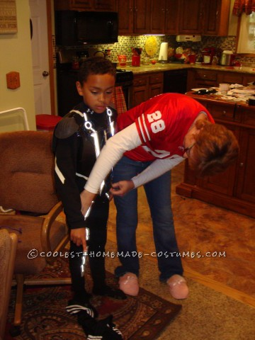 Homemade Child's Tron Costume