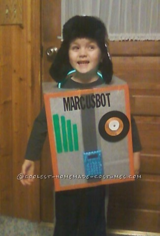 Cool Homemade Robot Costume for a Boy: Marcusbot 2013