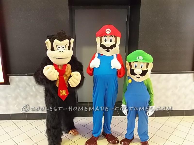 Mario, Luigi, and Donkey Kong Costumes for Kids