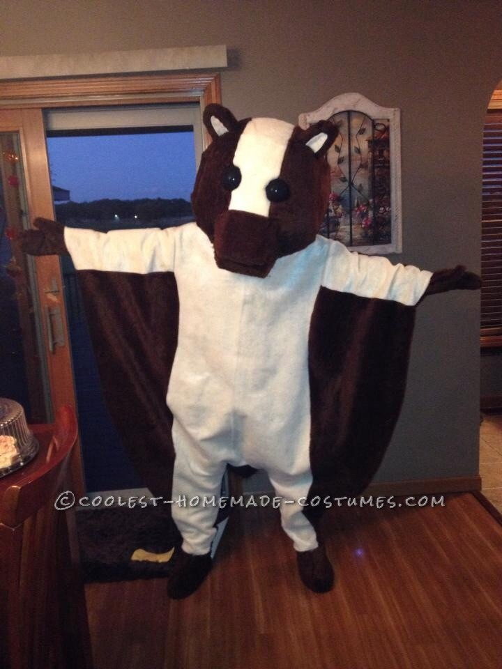 Mascot-Style Flying Squirrel Costume