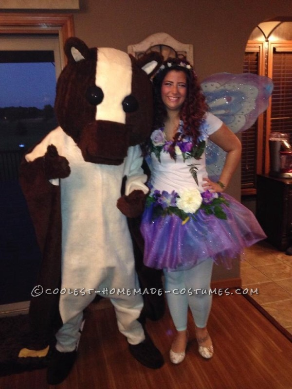 The flying squirrel with my fairy friend whose costume I also helped make.