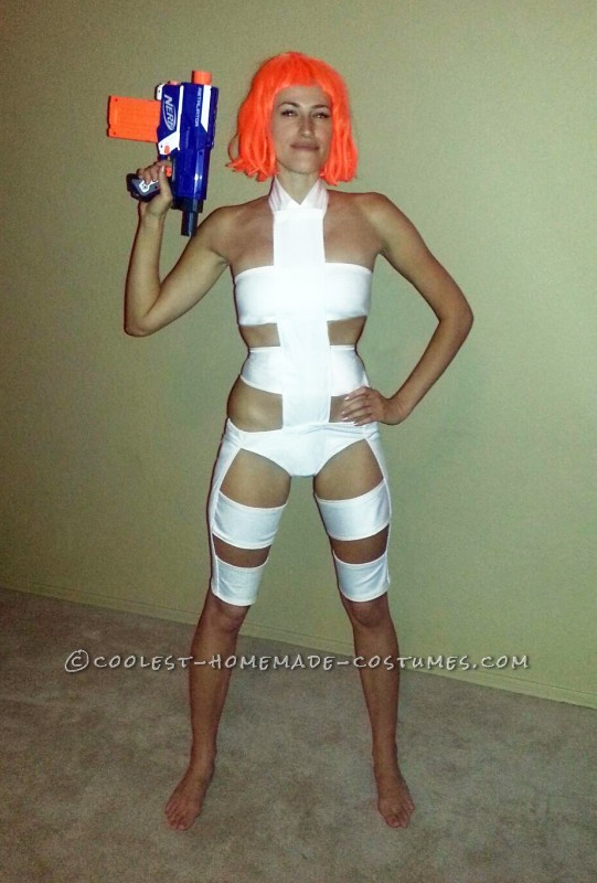 Sexy Fifth Element Couple Costume: Leeloo and Korben Dallas - 1