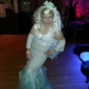 Mermaid Costume Made from Curtains