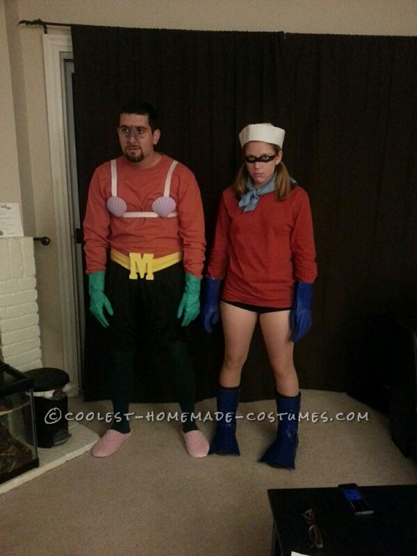 Mermaid Man and Barnacle Boy Couple Halloween Costume