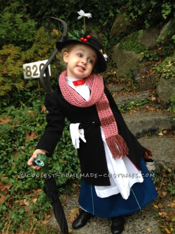 Mini Mary Poppins arriving at Preschool