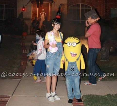 Coolest DIY Mom and Son Couple Costume: Minion Agnes and Costumes
