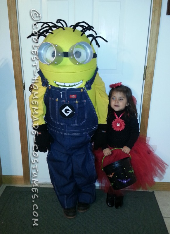 Coolest Homemade Minion Dave Costume for a Boy - 1