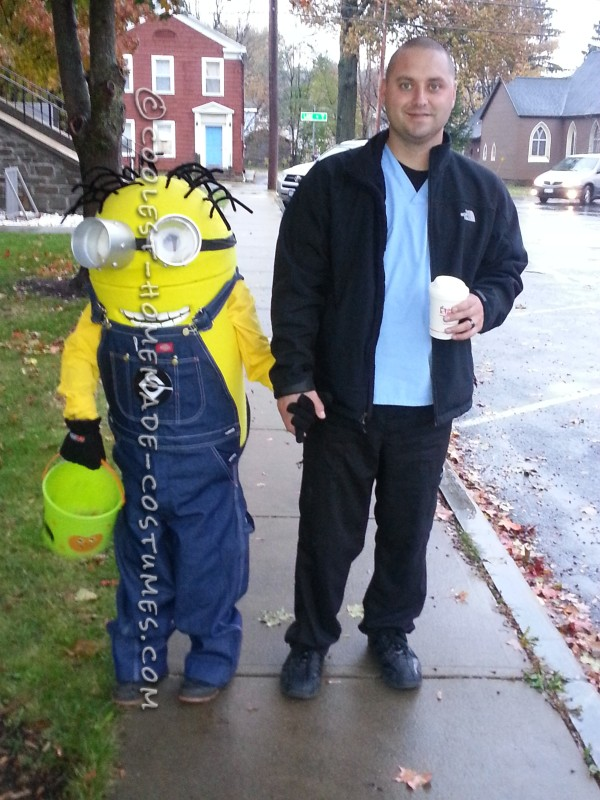 Coolest Homemade Minion Dave Costume for a Boy - 2