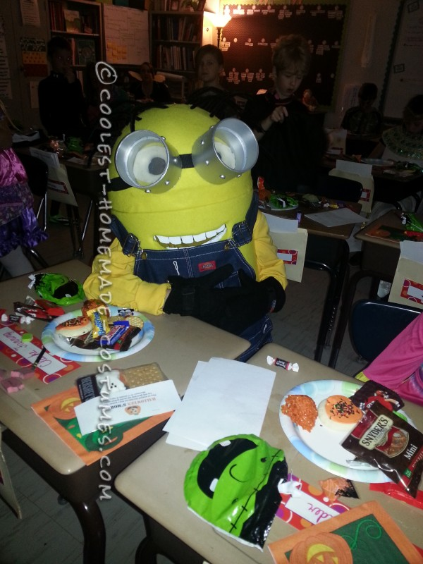 Coolest Homemade Minion Dave Costume for a Boy - 3