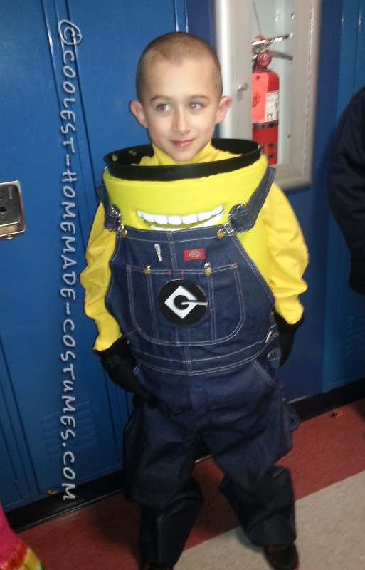 Coolest Homemade Minion Dave Costume for a Boy - 4