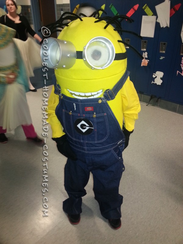 Coolest Homemade Minion Dave Costume for a Boy - 5