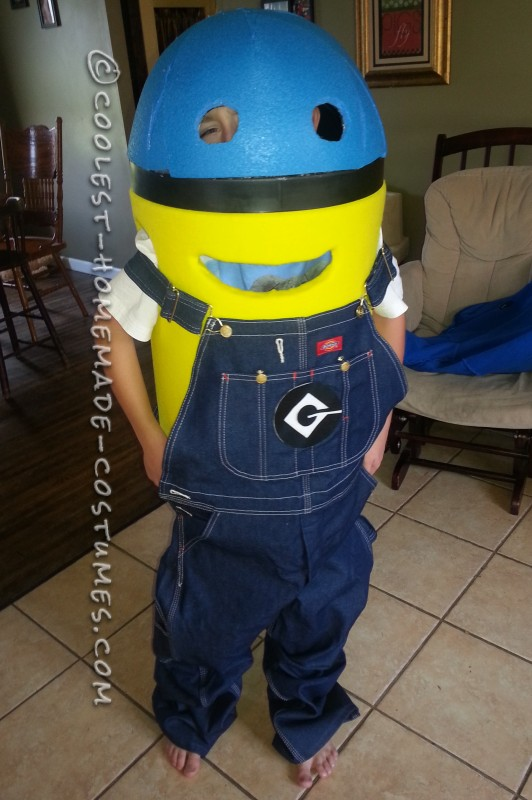 Coolest Homemade Minion Dave Costume for a Boy - 6