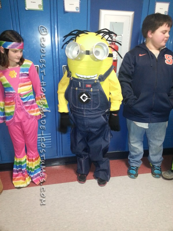 Coolest Homemade Minion Dave Costume for a Boy