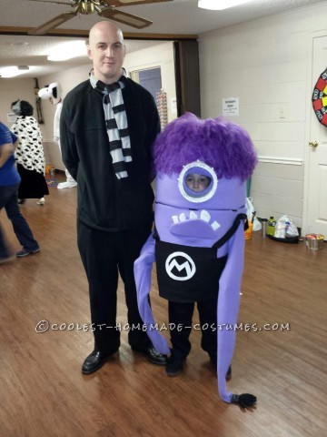 Minion Gone Wild: Homemade Despicable Me Purple Minion Costume