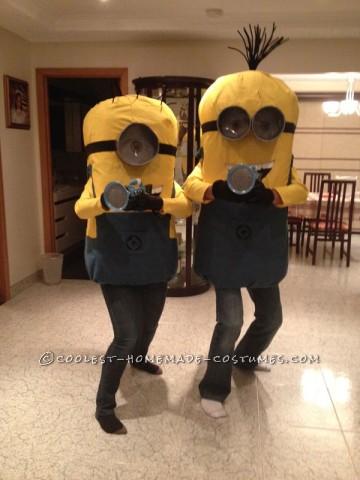 Coolest DIY Minions Despicable Me Couple Halloween Costume