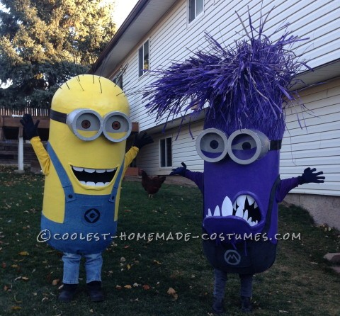 Awesome Homemade Minion Couple Costumes