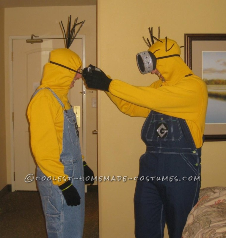 Funny Adult Minions Group Costume - 1