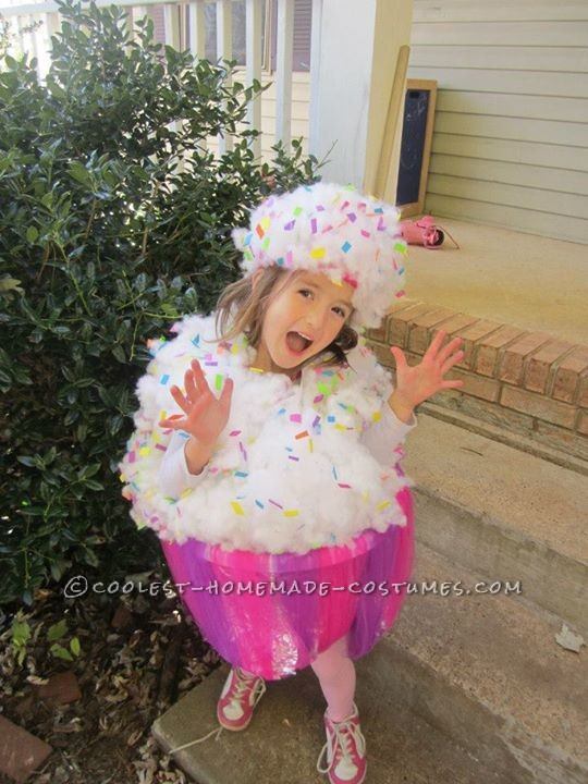 Sweet Homemade Cupcake Costume for a Girl