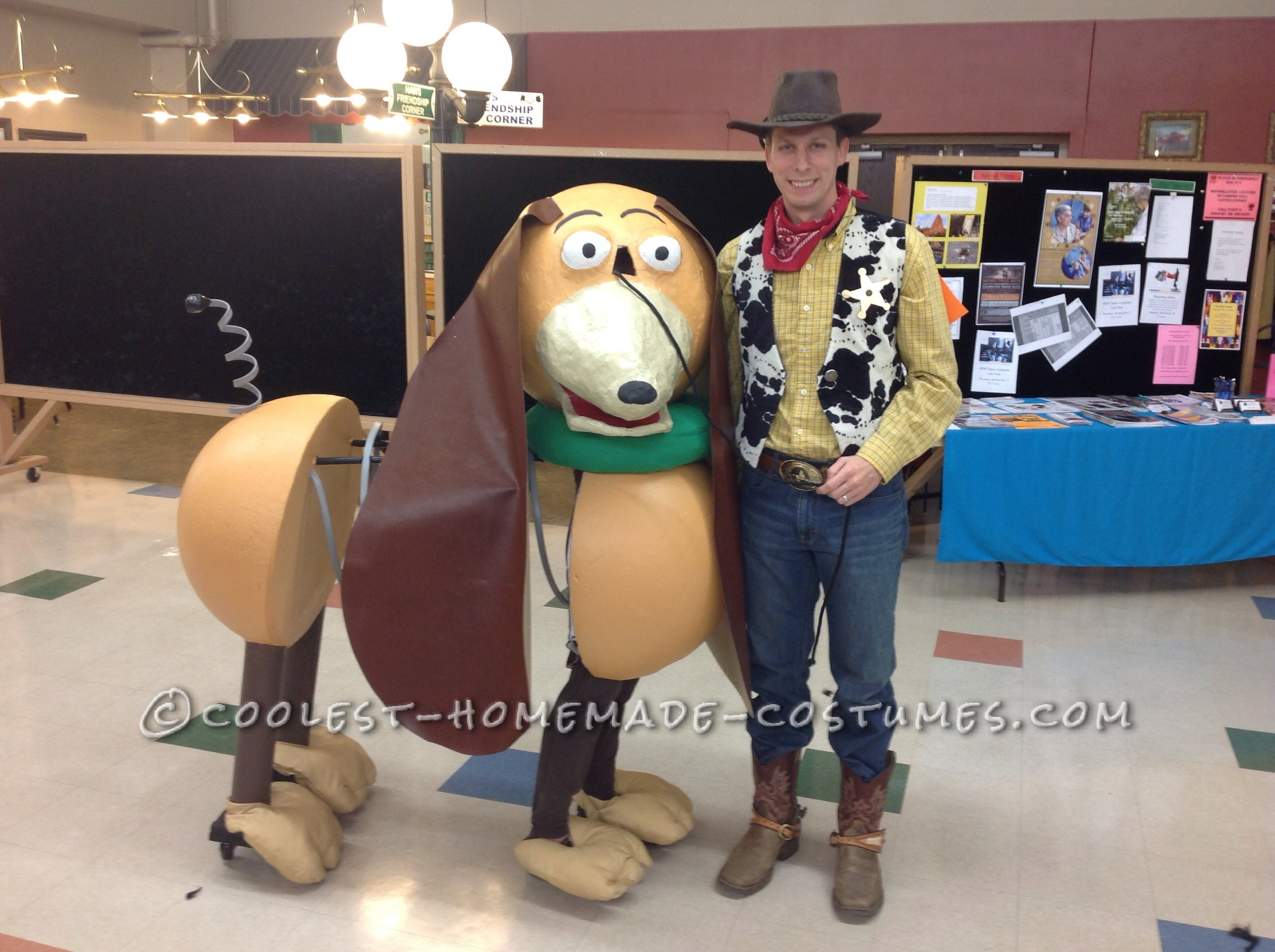 Most Creative Homemade Slinky Dog and Woody Costumes