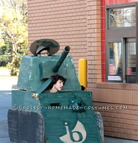 Cardboard Tank: Most Effective Method for Ordering Food from a Drive Thru