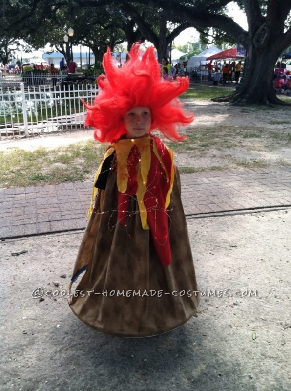 Erupting Mount Vesuvius Costume for a Kindergartener