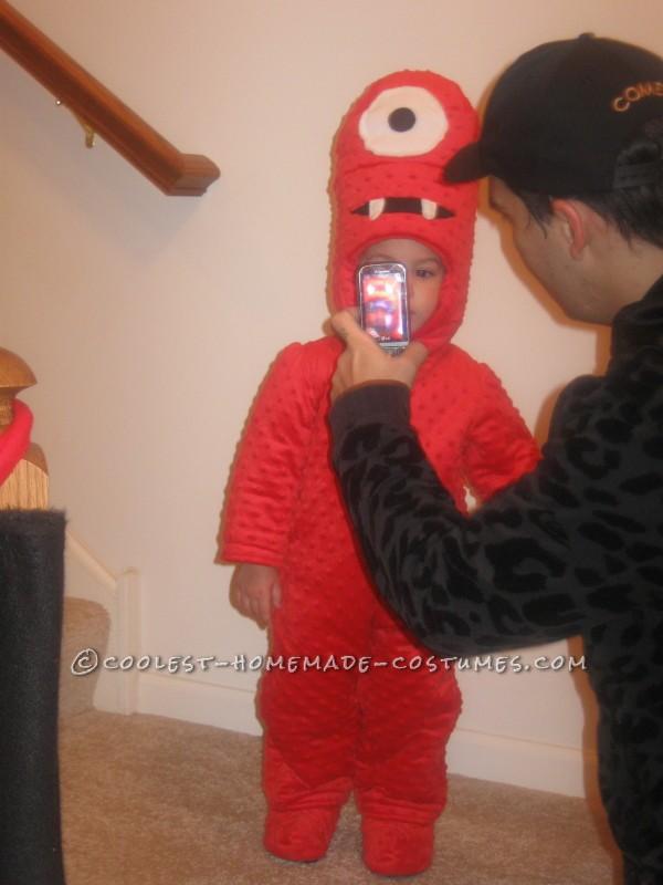 Cool Homemade Muno Toddler Costume from Yo Gabba Gabba - 7