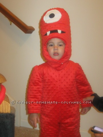 Cool Homemade Muno Toddler Costume from Yo Gabba Gabba