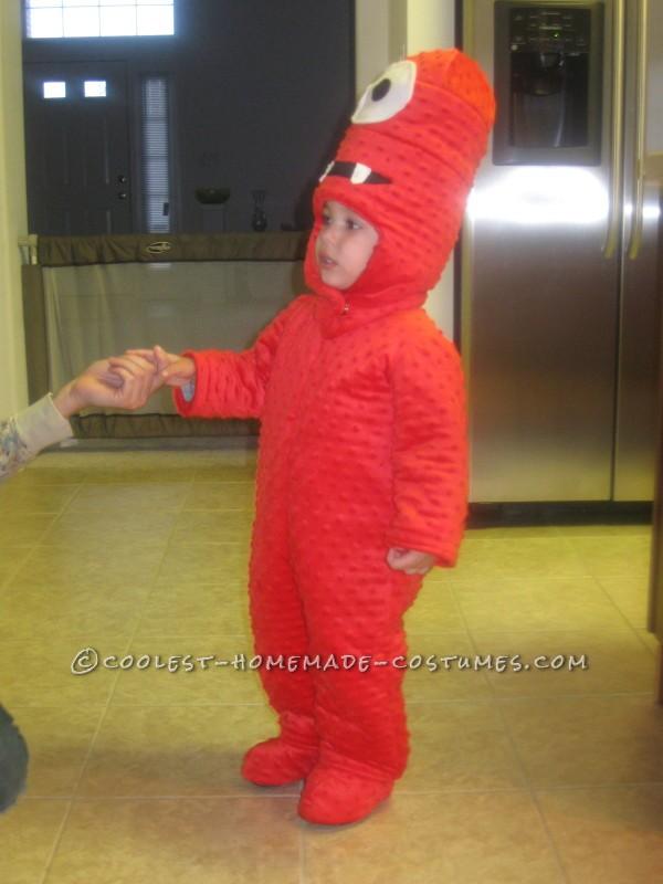 Cool Homemade Muno Toddler Costume from Yo Gabba Gabba - 6