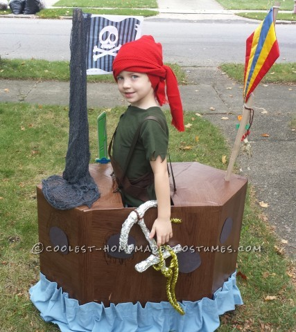 Little Pirate and His Ship Illusion Costume