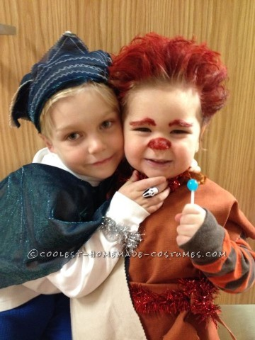 Cool Jack Frost and Heat Miser Child's Couple Costume
