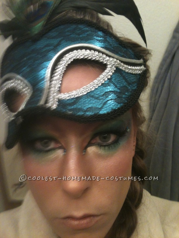 Homemade Peacock Costume with a Creative Twist - 1
