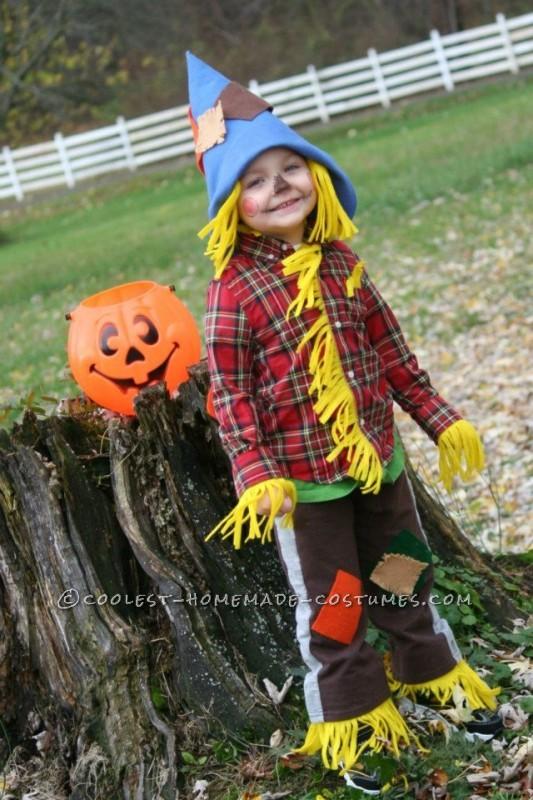 No-Sew Scarecrow Costume - 1