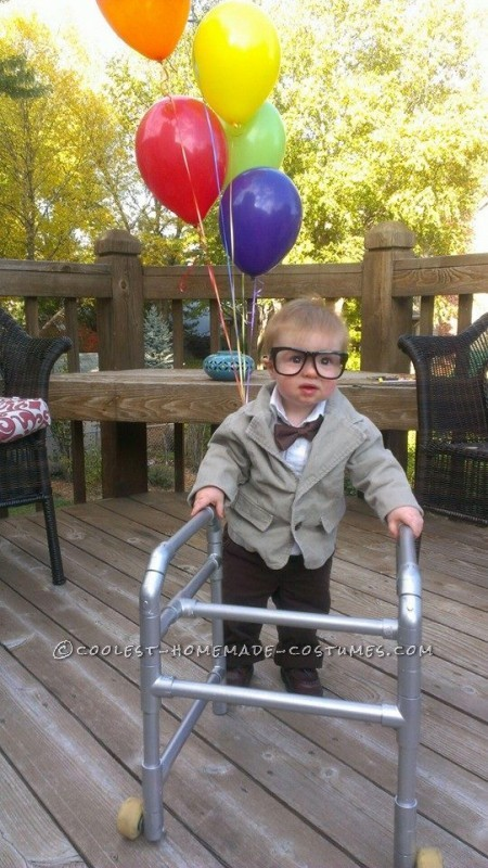 Funny DIY Toddler Couple Costume: Old Man from UP and His Old Lady - 2