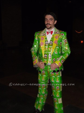Coolest Homemade Mr. Pringles Costume: Once You Pop You Can't Stop!