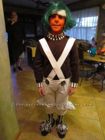 Cool Homemade Boy's Oompa Loompa Costume - 1
