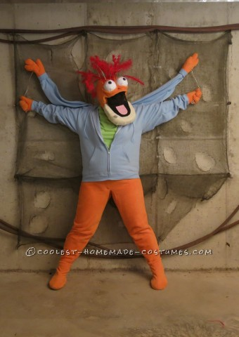 Adult Homemade Muppet Costume: Pepe the King Prawn, Not a Shrimp, Okay?