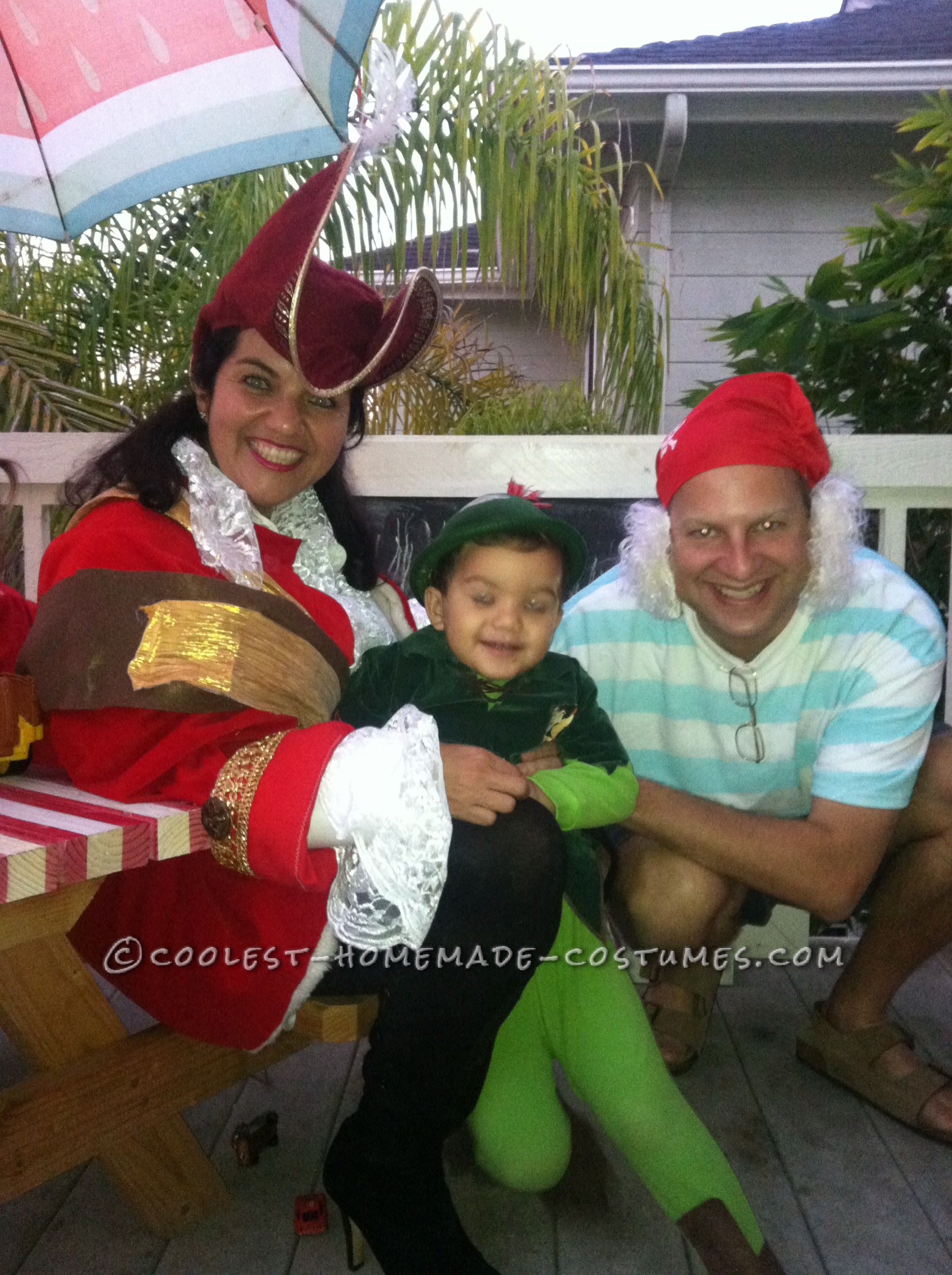 Peter Pan, Mr. Smee and Captain Hook Family Costume