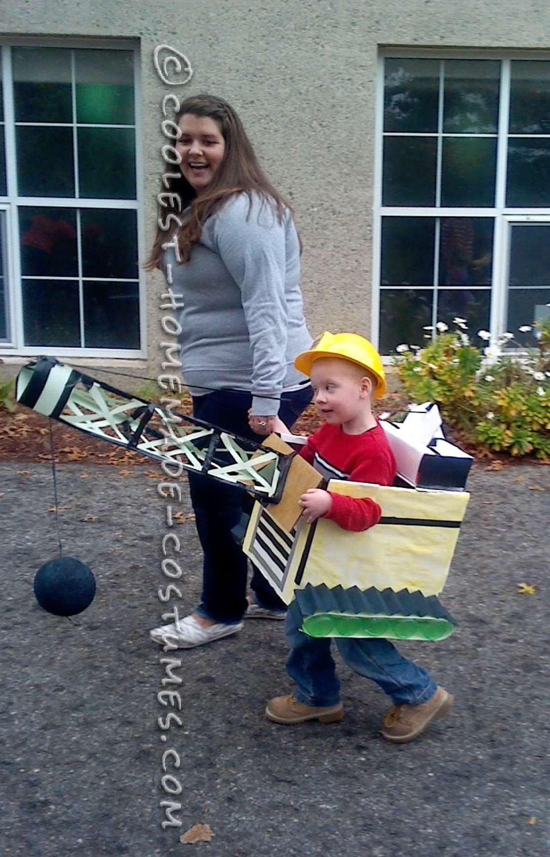 Cool Homemade Construction Wrecking Ball Costume