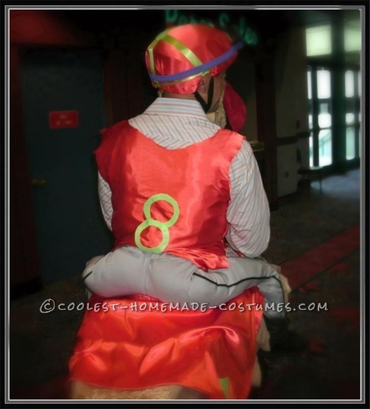 Homemade Chicken Jockey Costume - 2