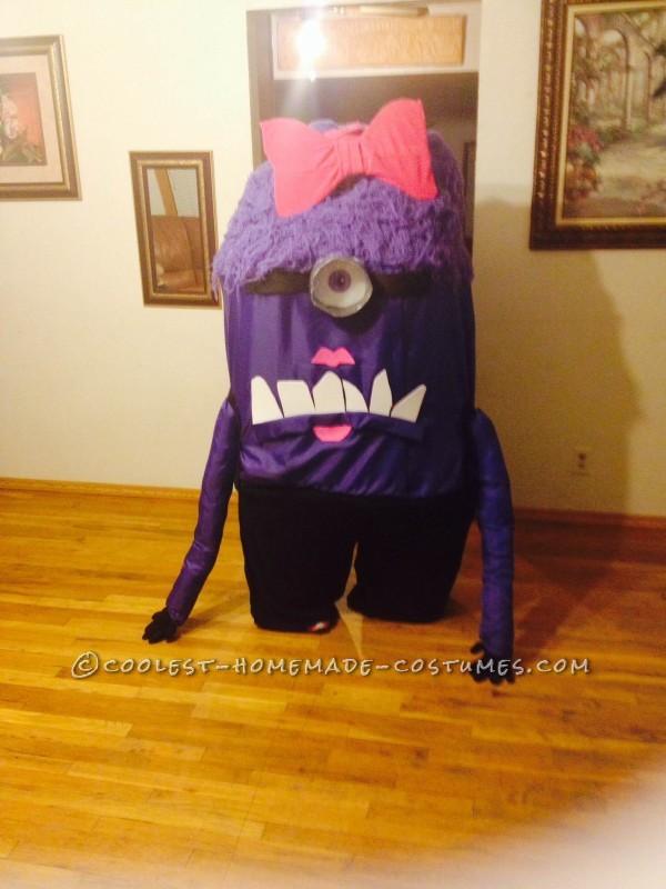 Homemade Girly Purple Minion Costume - 3