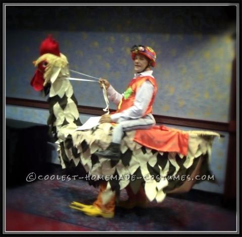 Homemade Chicken Jockey Costume