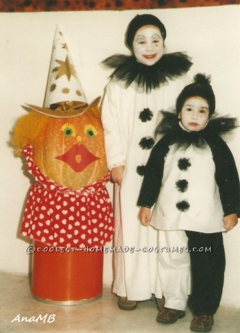 DIY Sad Clown (Pierrot) Costumes