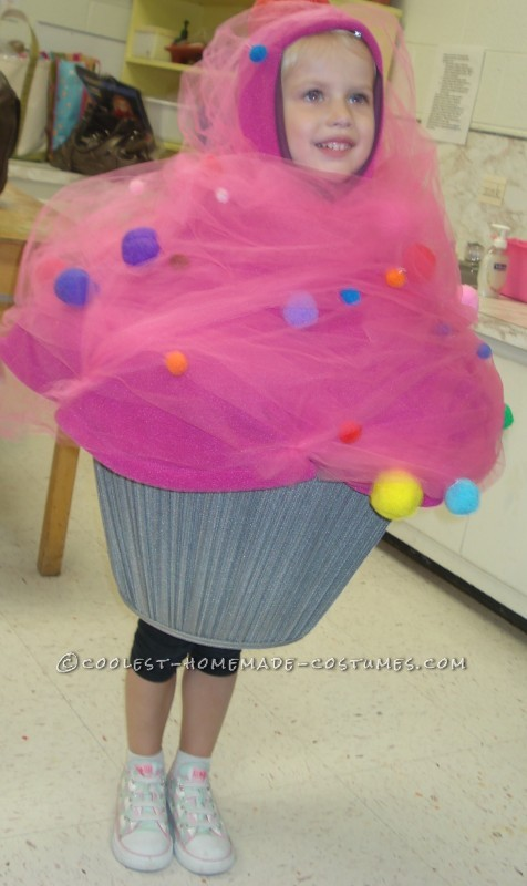 Pink Cupcake Toddler Costume with Sprinkles and a Cherry on Top - 1