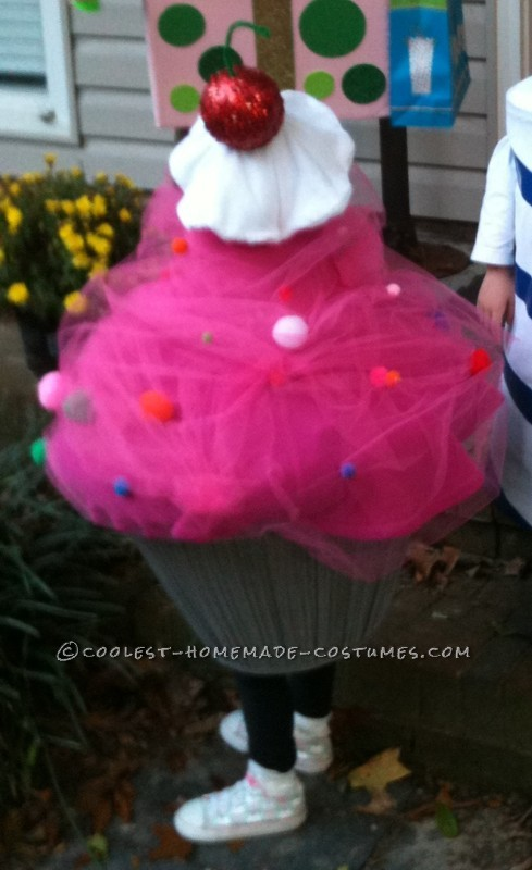 Pink Cupcake Toddler Costume with Sprinkles and a Cherry on Top - 2