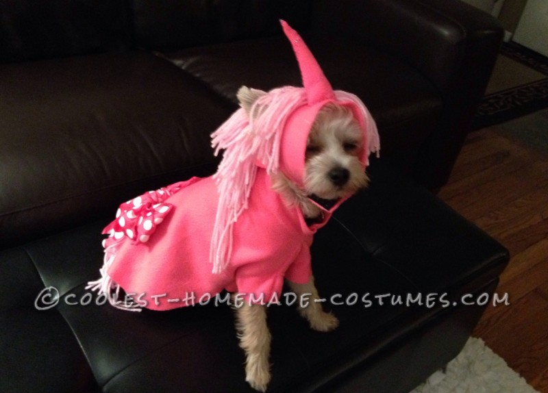 Pink Unicorn Costume for Little Puppy