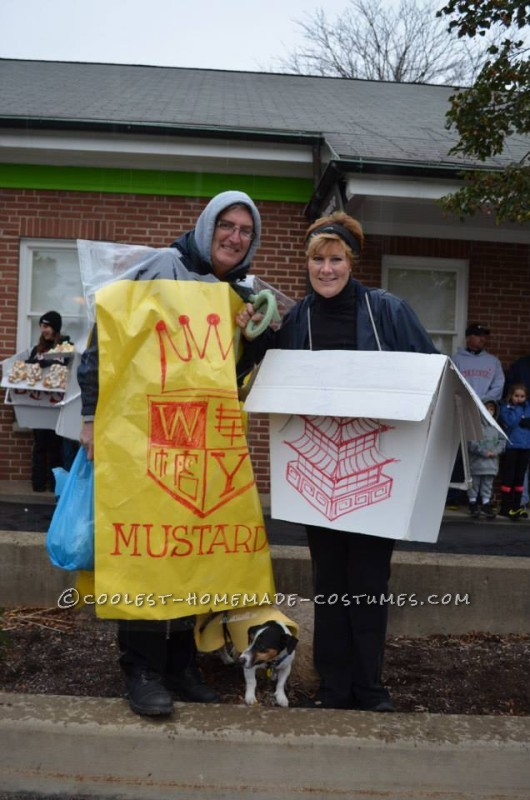 My brother in law as  Hot mustard, my sister and their do the fortune cookie