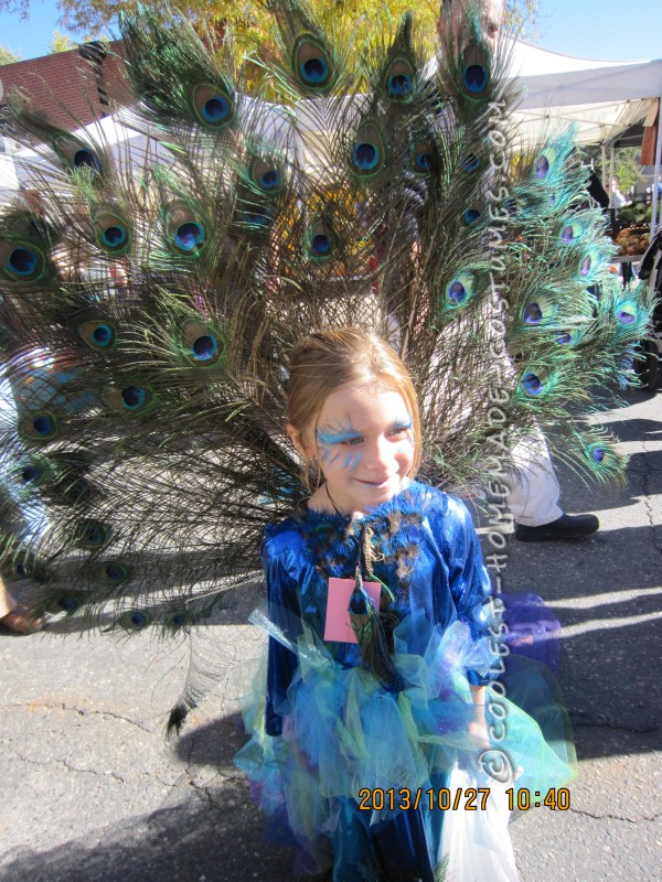Prettiest Crowd-Stopping Peacock Costume for a Girl