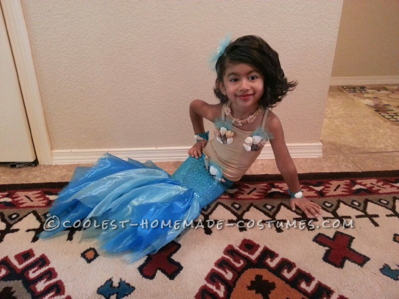 Pretty Little Mermaid Costume for a Toddler