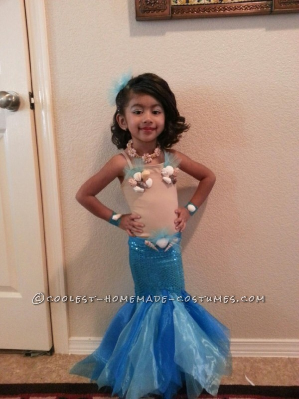 Pretty Little Mermaid Costume for a Toddler - 1