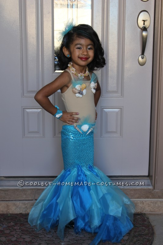 Pretty Little Mermaid Costume for a Toddler - 2